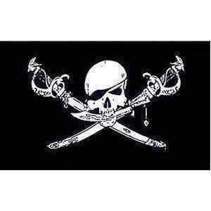 vendor-unknown Pirate Flags (Jolly Roger Flags) Pirate Flag, Brethren Of the Coast Jolly Roger Flag 4 X 6 inch on stick