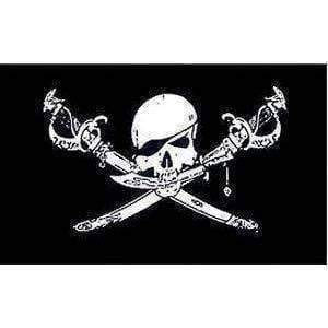 vendor-unknown Pirate Flags (Jolly Roger Flags) Pirate Flag, Brethren Of the Coast Jolly Roger Flag 4 X 6 Inch pack of 10