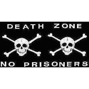 vendor-unknown Pirate Flags (Jolly Roger Flags) Pirate Flag Death Zone Jolly Roger, Pirate No Prisoners Flag 12 X 18 inch with grommets Standard