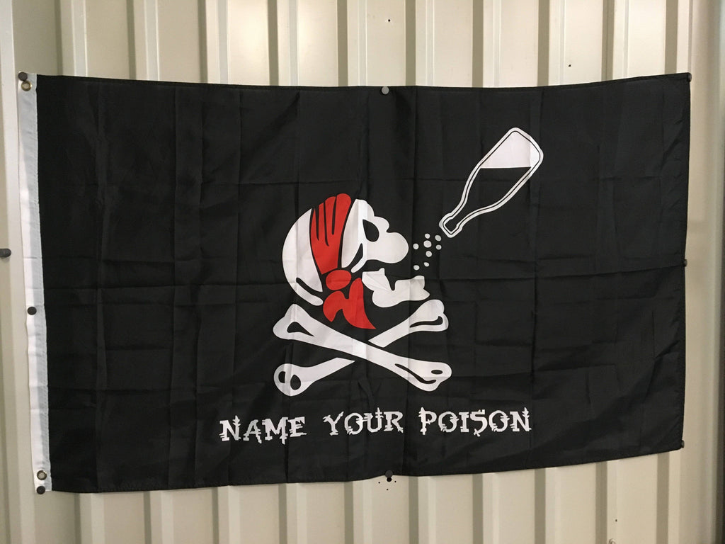 vendor-unknown Pirate Flags (Jolly Roger Flags) Pirate Name Your Poison Flag 3 X 5 ft. Standard