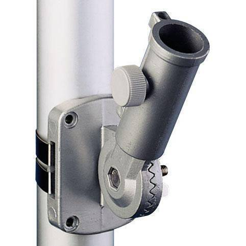 Eder Pole Bracket Ultimate Adjustable Bracket - Flat Mounting - White & Silver