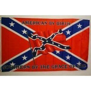 vendor-unknown Rebel Flags & Confederate Flags Rebel American By Birth Flag 3 X 5 ft. Standard