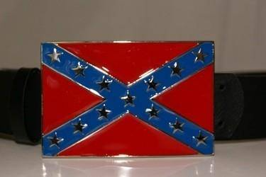 vendor-unknown Rebel Flags & Confederate Flags Rebel Flag Belt Buckle