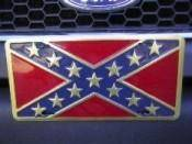 vendor-unknown Rebel Flags & Confederate Flags Rebel Gold License Plate