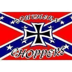 vendor-unknown Rebel Flags & Confederate Flags Rebel Southern Choppers Flag 3 X 5 ft. Standard