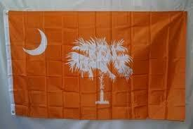 RU Rebel Flags & Confederate Flags South Carolina Orange Flag 3 X 5 ft. Standard