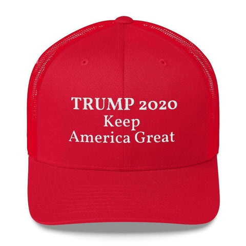 Image of Ultimate Flags Red Trump 2020 Keep America Great Trucker Cap