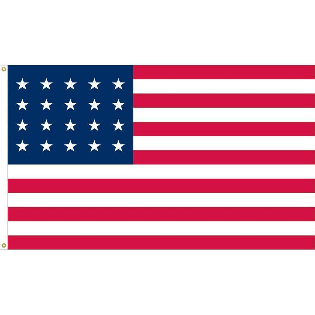 vendor-unknown Search Flags by Quality 20 Star U.S. 3 x 5 Nylon Fully Sewn Flag (USA Made)