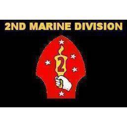vendor-unknown Search Flags by Quality 2nd Marine Division Flag 3 X 5 ft. Standard