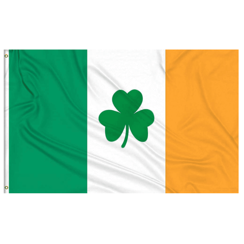 vendor-unknown Search Flags by Quality 3x5 Ireland Shamrock Flag 3 X 5 ft. Standard