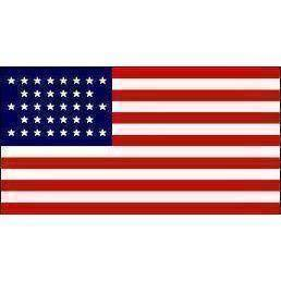 RU Search Flags by Quality 3x5 / Polyester 36 Stars USA Flag - Post Civil War - 1865-1867 -  3 X 5 ft. Standard