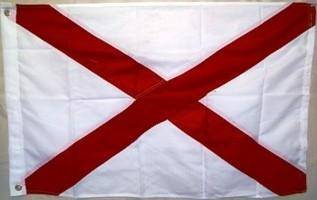 vendor-unknown Search Flags by Quality Alabama Double Nylon Embroidered Flag 4 X 6 ft.