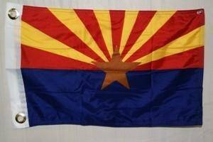vendor-unknown Search Flags by Quality Arizona Flag 12 x 18 inch with grommets