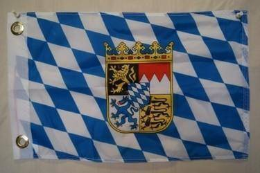 vendor-unknown Search Flags by Quality Bavaria with Crest Flag 12 x 18 inch with grommets
