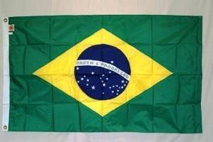 vendor-unknown Search Flags by Quality Brazil Nylon Embroidered Flag 3 x 5 ft.