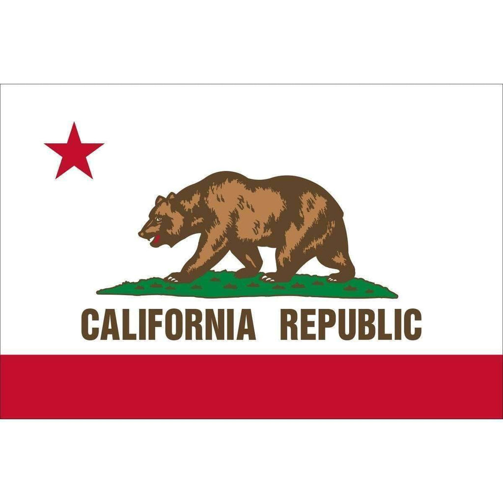vendor-unknown Search Flags by Quality California Flag  4 x 6 Nylon Dyed Flag (USA Made)