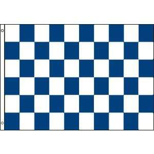 vendor-unknown Search Flags by Quality Checkered Flag Blue and White Flag 3 X 5 ft. Standard