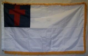 vendor-unknown Search Flags by Quality Christian Nylon Embroidered Flag 3 x 5 ft. with Fringe