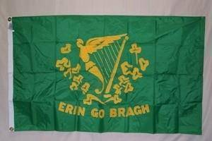 Irish Erin Go Bragh Flag, Irish Harp Flag 3'x5'