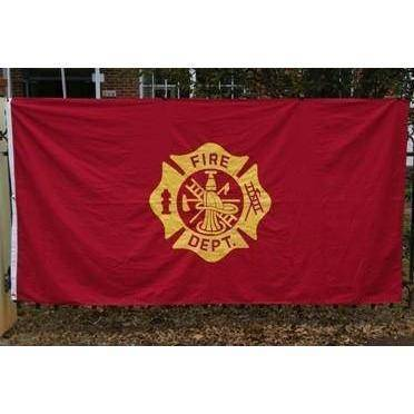 vendor-unknown Search Flags by Quality Fire Department Cotton Flag 5 x 9.5 ft.