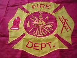 vendor-unknown Search Flags by Quality Fire Dept Double Nylon Embroidered Flag 3 x 5 ft.