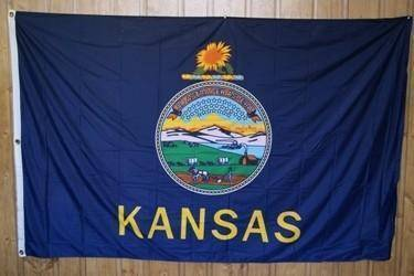 vendor-unknown Search Flags by Quality Kansas Knitted Nylon 5 x 8 Flag