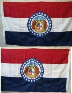 vendor-unknown Search Flags by Quality Missouri Double Nylon Embroidered Flag 3 x 5 ft.