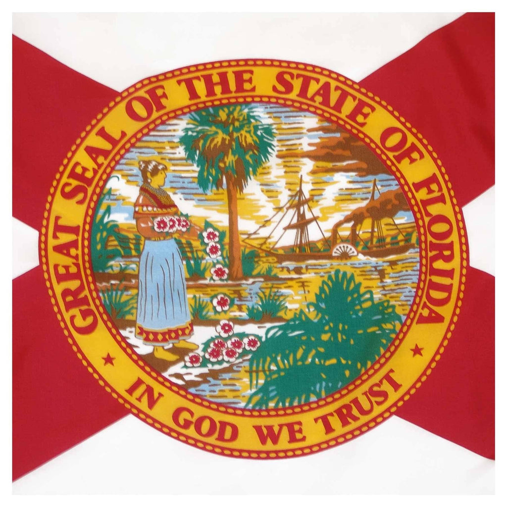 Florida Flag - Outdoor All Sizes Nylon Made In Usa