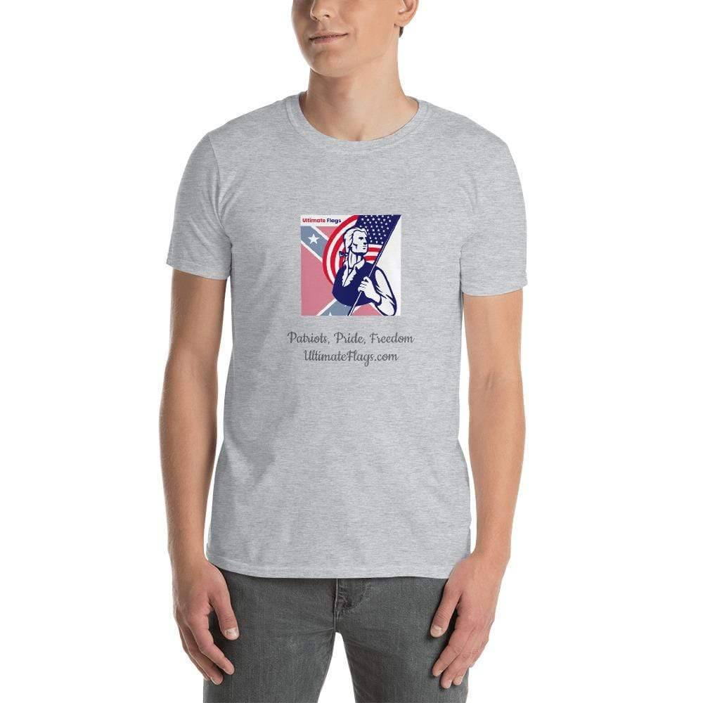 Ultimate Flags Sport Grey / S Ultimate Flags Logo Short-Sleeve Unisex T-Shirt Patriots, Pride, Freedom