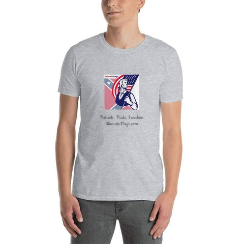 Image of Ultimate Flags Sport Grey / S Ultimate Flags Logo Short-Sleeve Unisex T-Shirt Patriots, Pride, Freedom