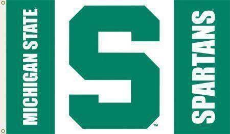 vendor-unknown Sports Items Michigan State University College Football Team Flag