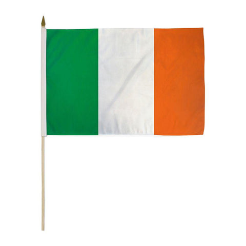 Ireland Flag 12 X 18 Inch On Stick A Stick