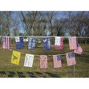 RU String Flags American Revolution 12 x 18 inch String Flag