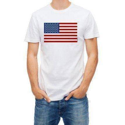 vendor-unknown T-Shirts Small / Cotton USA Flag T-shirt (medium)
