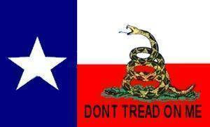 vendor-unknown Texas Flags 3x5 / Polyester Texas Gadsden Flag - Don't Tread on Me 3 X 5 ft. Standard