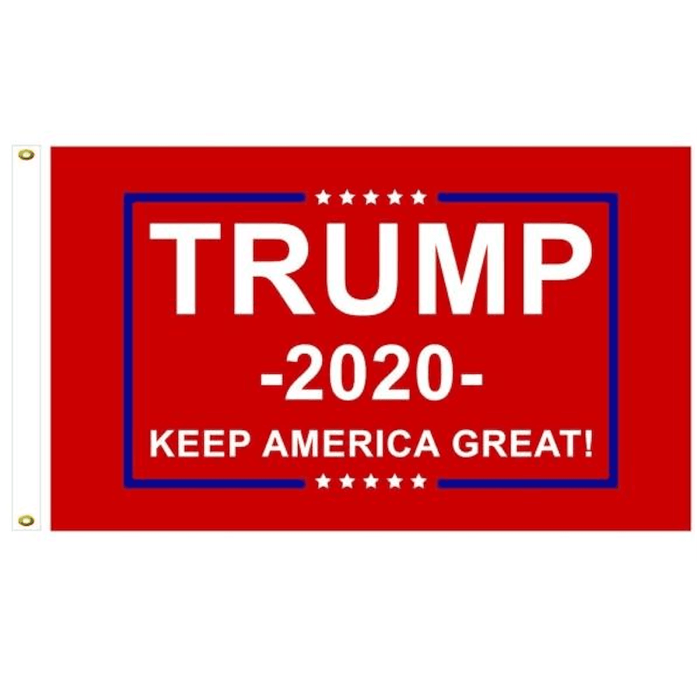 Trump 2020 Flag Red Double Sided Keep America Great 3x5