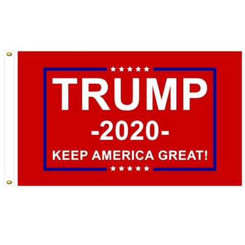 Image of Trump 2020 Flag Red Double Sided Keep America Great 3x5