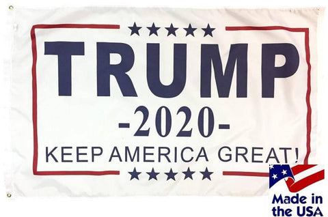 Trump Flag 2020 Keep America Great - 3x5 - Screen Printed (Made in USA)