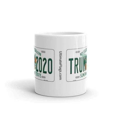 Ultimate Flags Trump 2020 License Plate Mug
