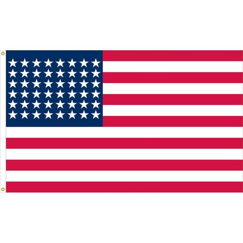 48 Star American Flag  1912 to 1959 2 Ply Nylon 3 x 5 ft.