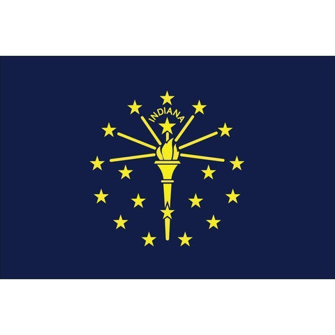 vendor-unknown US State Flags Indiana 3 x 5 Nylon Dyed Flag (USA Made)