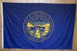 vendor-unknown US State Flags Nebraska Knitted Nylon 5 x 8 Flag