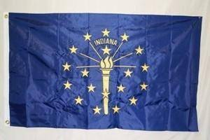vendor-unknown US State Flags State of Indiana Flag Nylon Embroidered 3 x 5 ft.