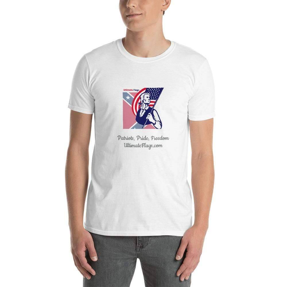 Ultimate Flags White / S Ultimate Flags Logo Short-Sleeve Unisex T-Shirt Patriots, Pride, Freedom