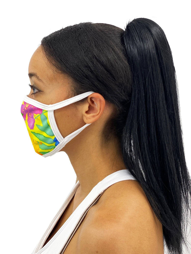 Yellow Mahalo Face Mask With Filter Pocket Womens Clothing