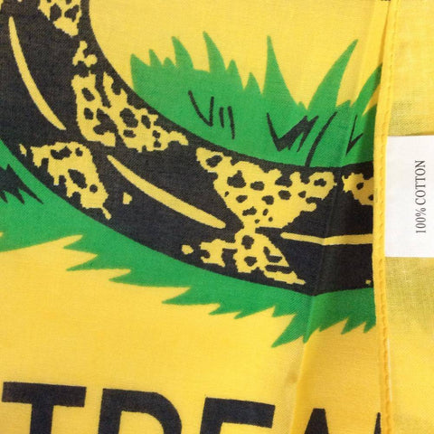 Gadsden Don't Tread On Me Yellow Bandana