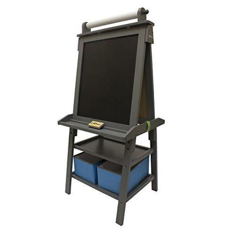 Little Partners Deluxe Art Easel - Two Sided A-Frame Paint Easel, Chalk Board & Magnetic Dry Erase