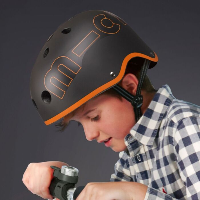Micro Helmet Black & Orange M