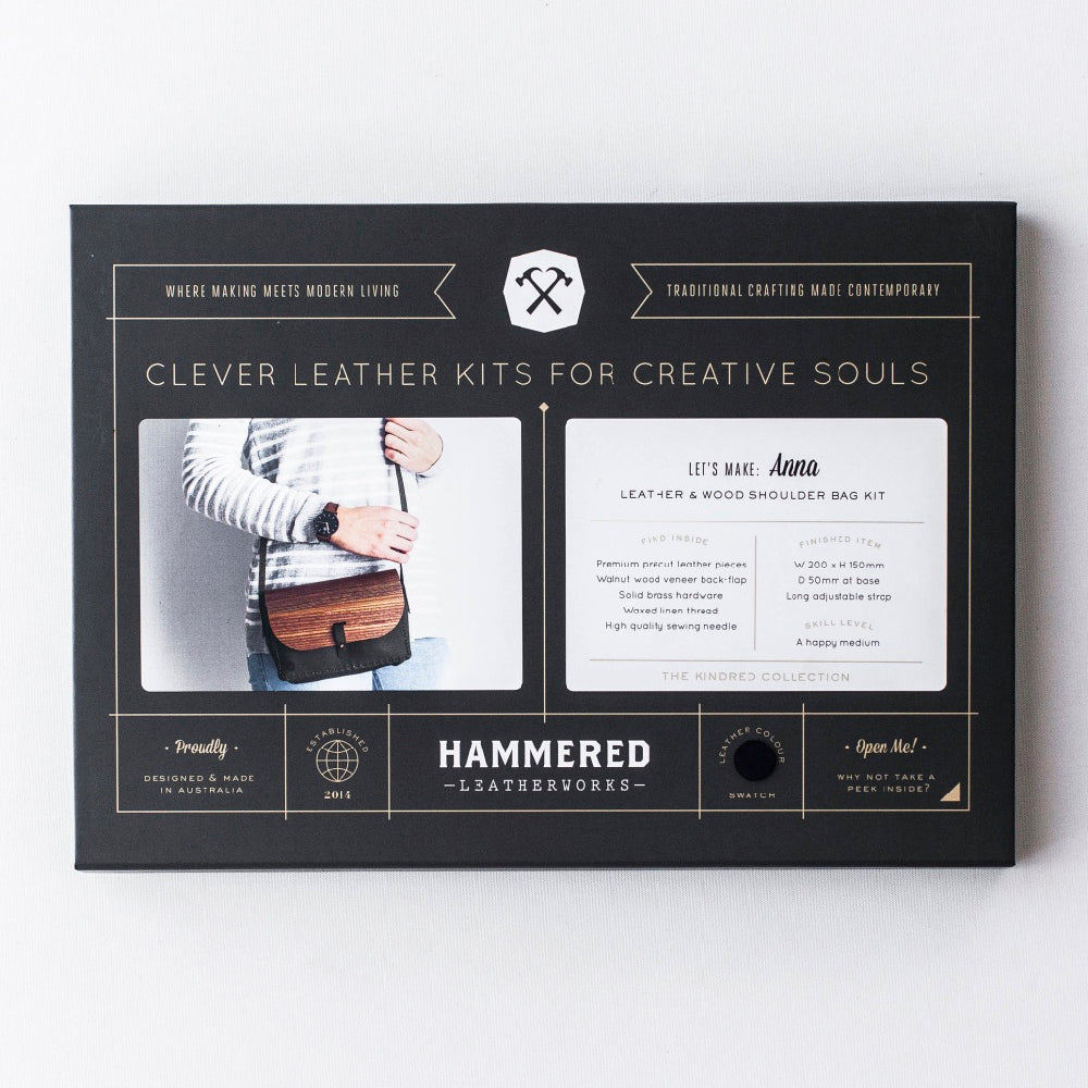 Anna Bag Kit Hammered Leatherworks DIY kit