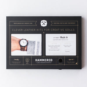 Classic 36 Wrist Watch Kit Hammered Leatherworks DIY kit